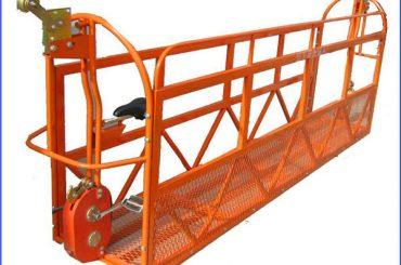 1000 kg 7.5 mx 3つのセクションアルミニウム合金の懸垂作業プラットフォームzlp1000