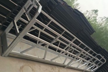 zlp630 / 800 llの形状のアルミニウム合金、建物の窓に鉄骨構造の作業台を持ち上げる