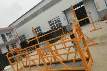 信頼性の高いZLP630塗装鋼の建物の建設のための作業プラットフォームを懸架(2)
