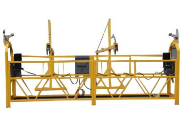 吊り下げ式ワイヤーローププラットホーム窓洗浄装置(2)