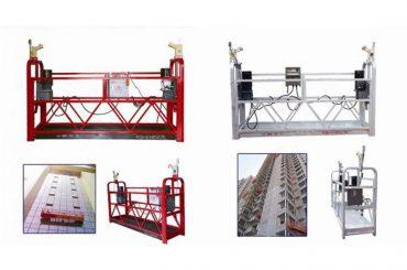 ロープ吊り下げアクセスプラットフォーム、zlp630建設リフトゴンドラマシン